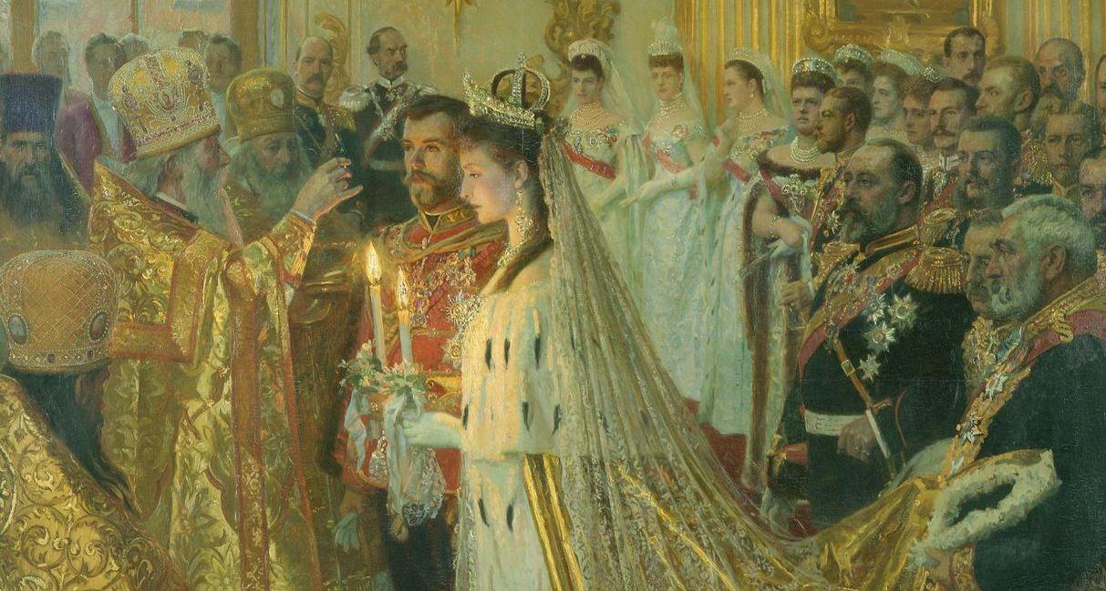 Лауриц Туксен. Венчание императора Николая Александровича и императрицы Александры Фёдоровны, 1895