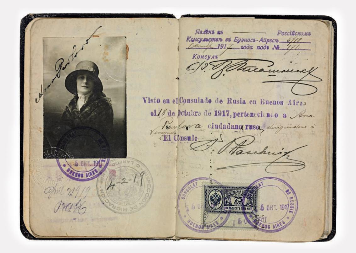 Паспорт Анны Павловой