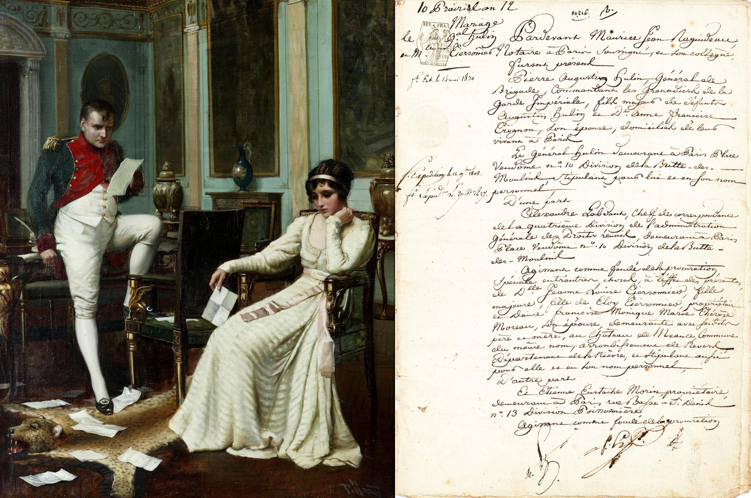 Гарольд Пиффард. Наполеон и Жозефина, конец 19 века / Брачный контракт Наполеона и Жозефины