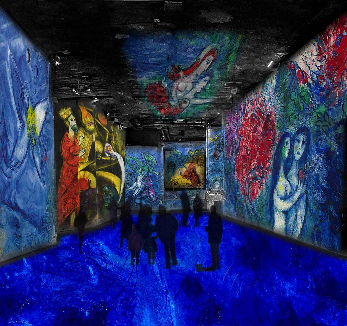 Шагал: Сон в летнюю ночь / фото carrieres-lumieres.com