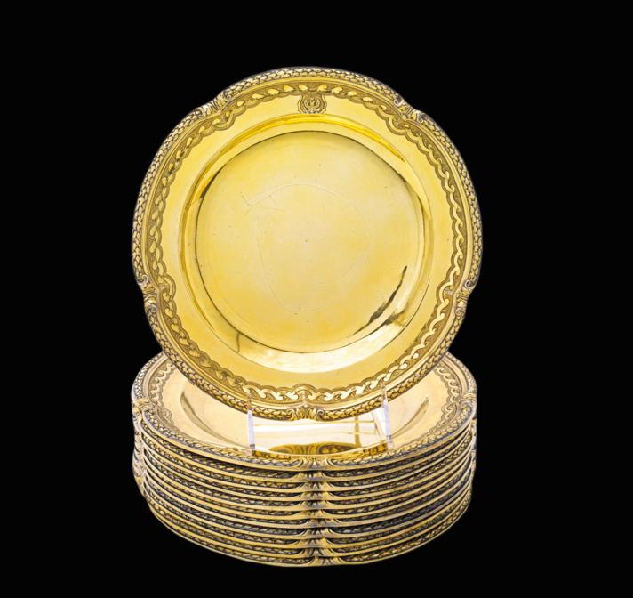 Тарелки из сервиза графа Григория Орлова, подарок императрицы Екатерины II Романовой
