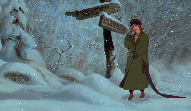 Кадр из мультипликационного фильма «Анастасия» (1997)