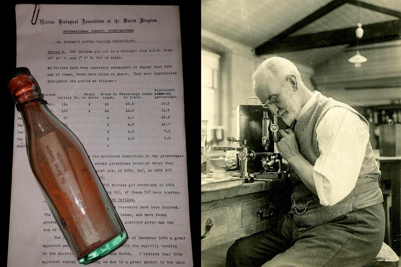 Бутылка с письмом / Джордж Паркер Биддер III