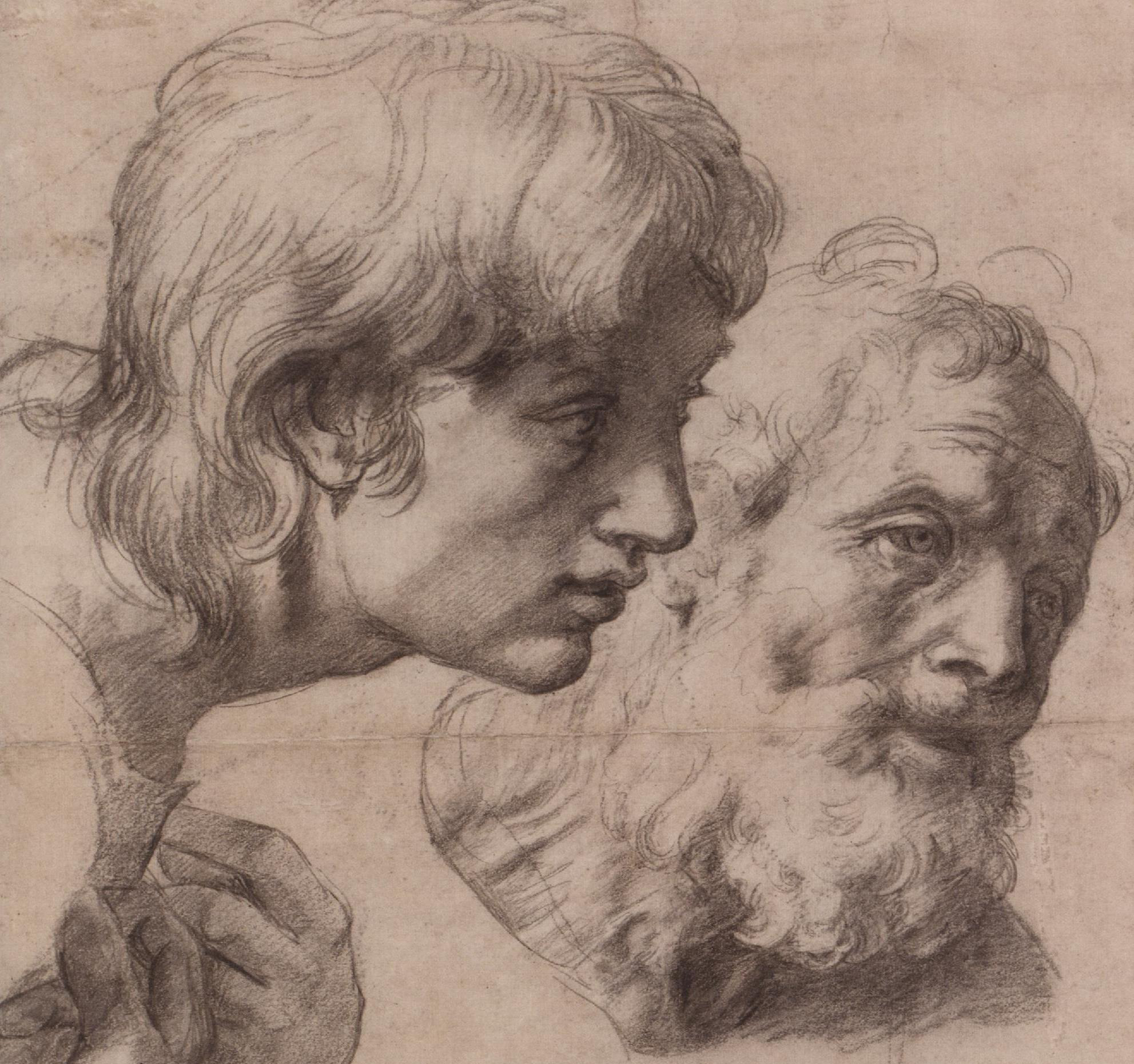 Святой Петр и Иоанн, Преображение, набросок / Эшмол, Оксфорд