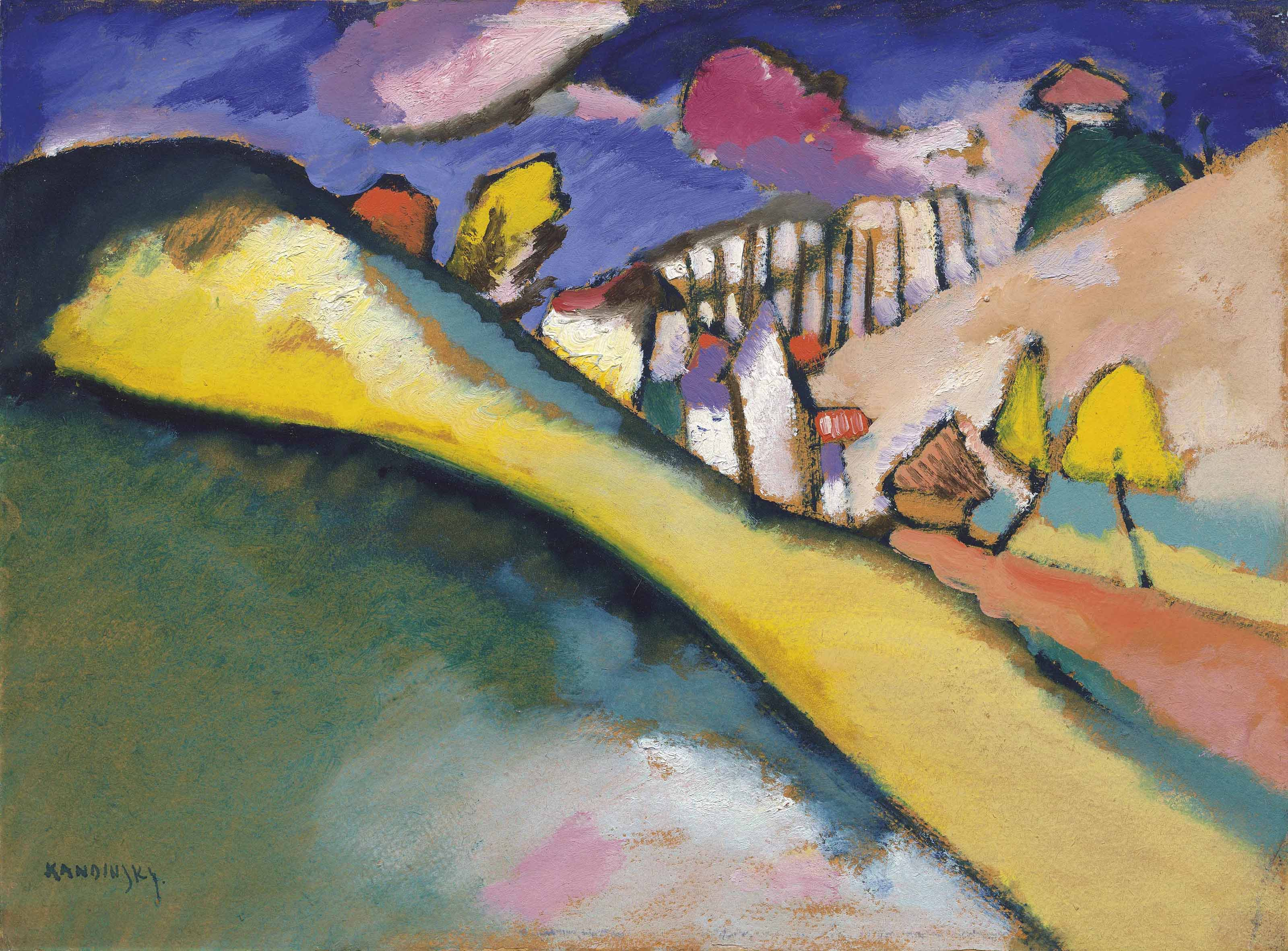 Василий Кандинский. Набросок ландшафта (Дюнаберг), 1910