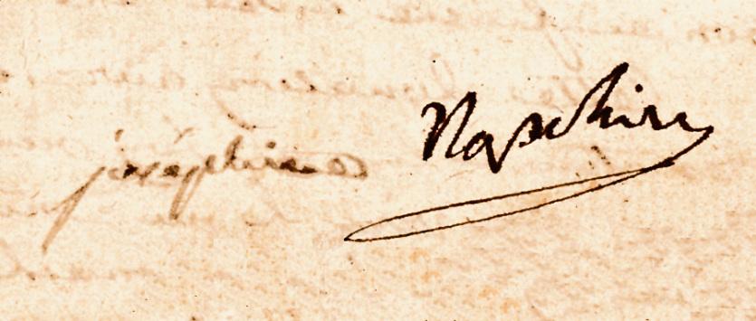 Автографы / Брачный контракт Наполеона и Жозефины