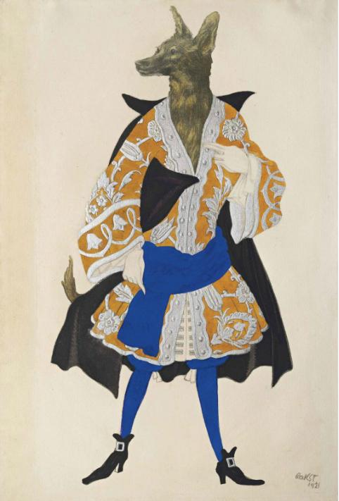 Лев Бакст, 1921 / Дизайн костюма для «Спящей красавицы»: волк / £40,000-£60,000