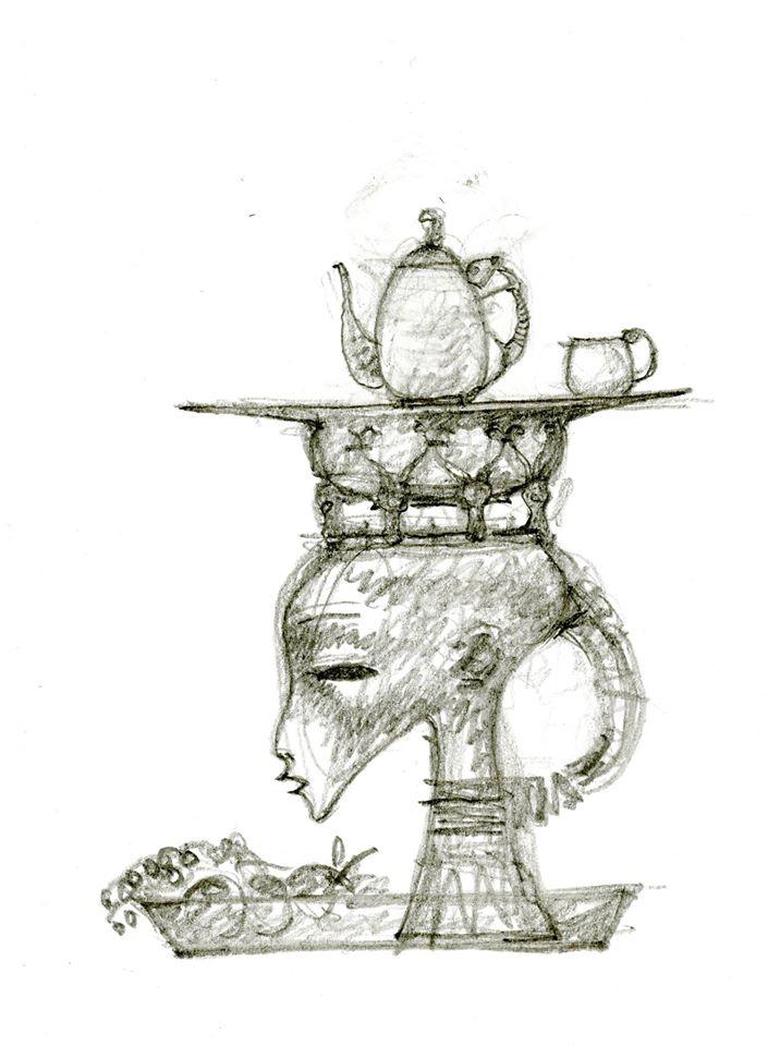 Эскиз чайного сервиза / Даши Намдаков