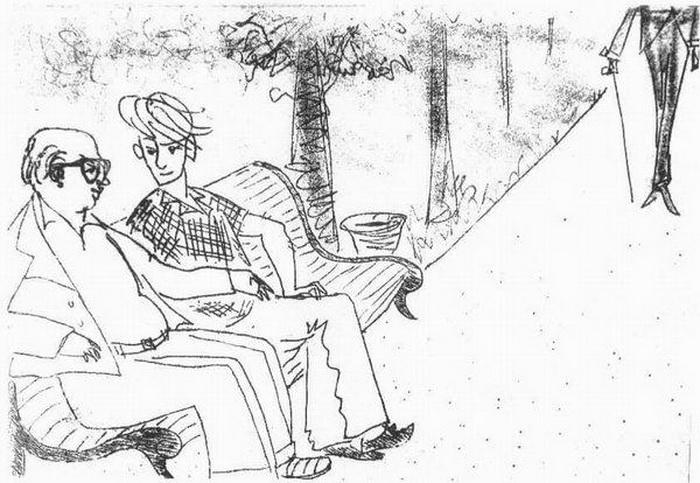 Рисунок Нади Рушевой к роману М. Булгакова «Мастер и Маргарита»