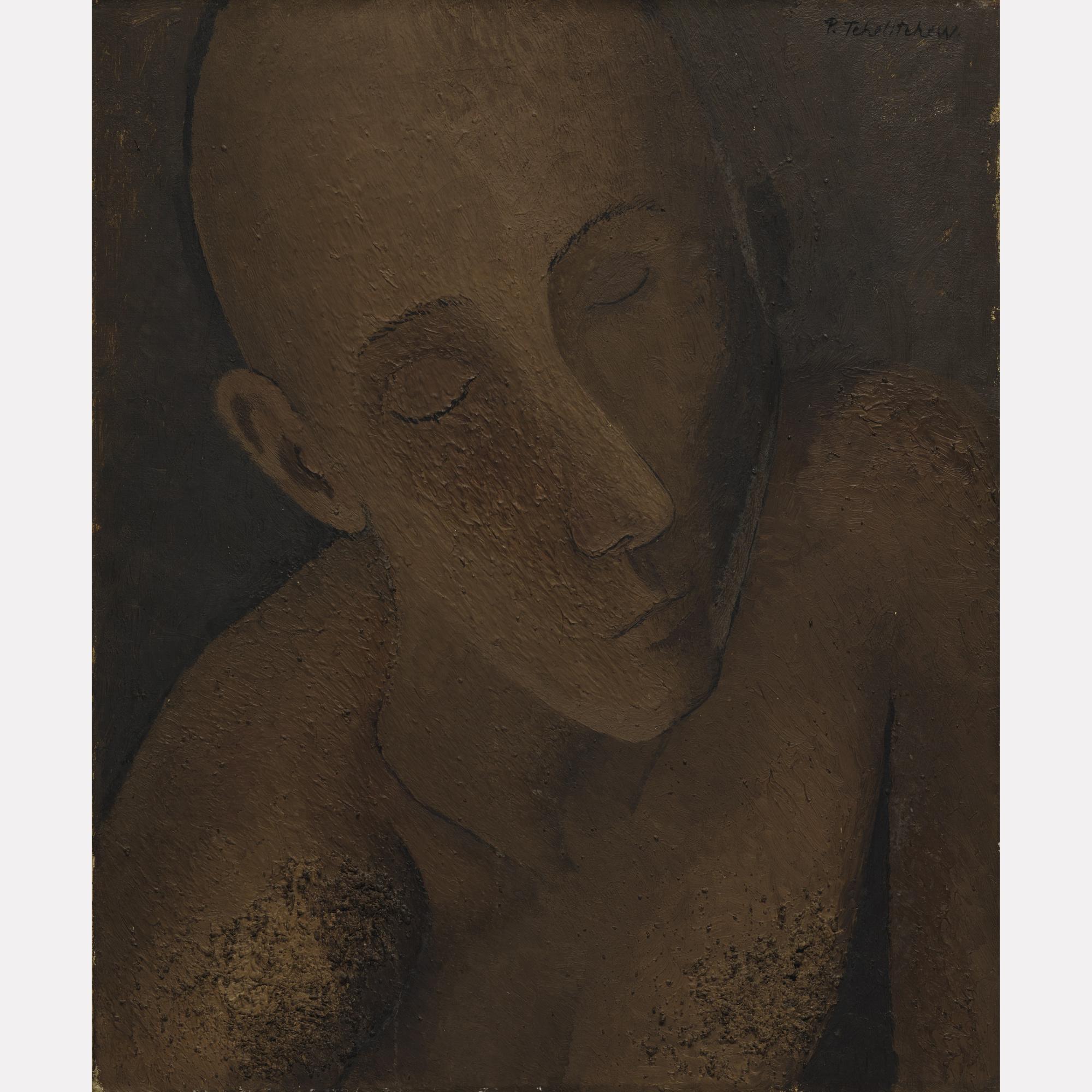Павел Челищев. Голова мужчина, 1927