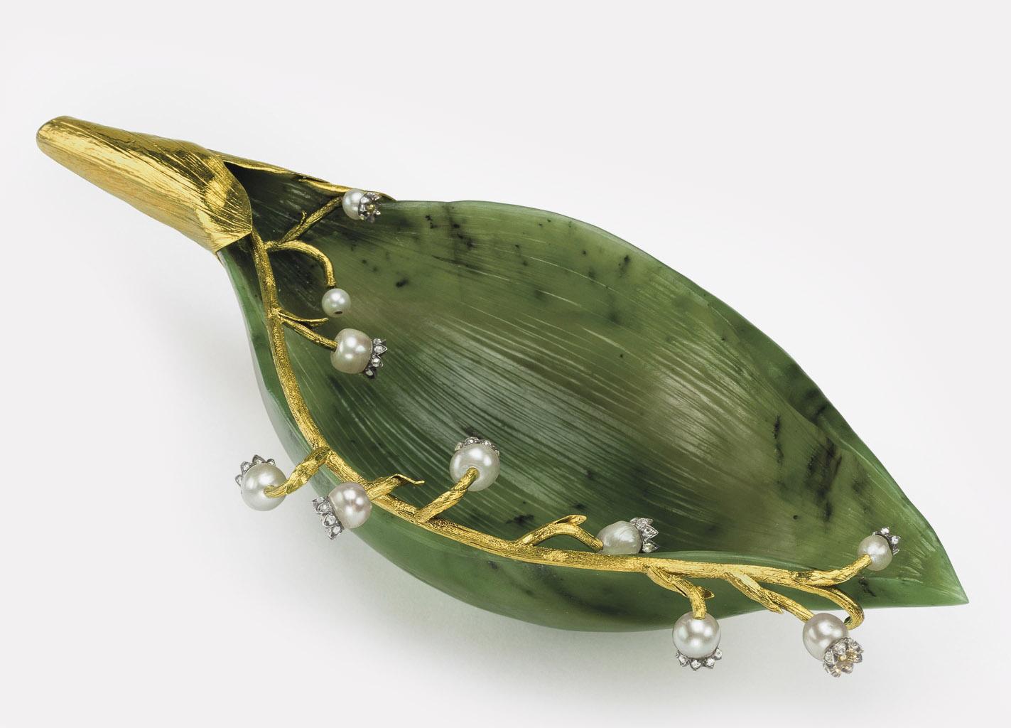 Лист ландыша. Fabergé , ок. 1900