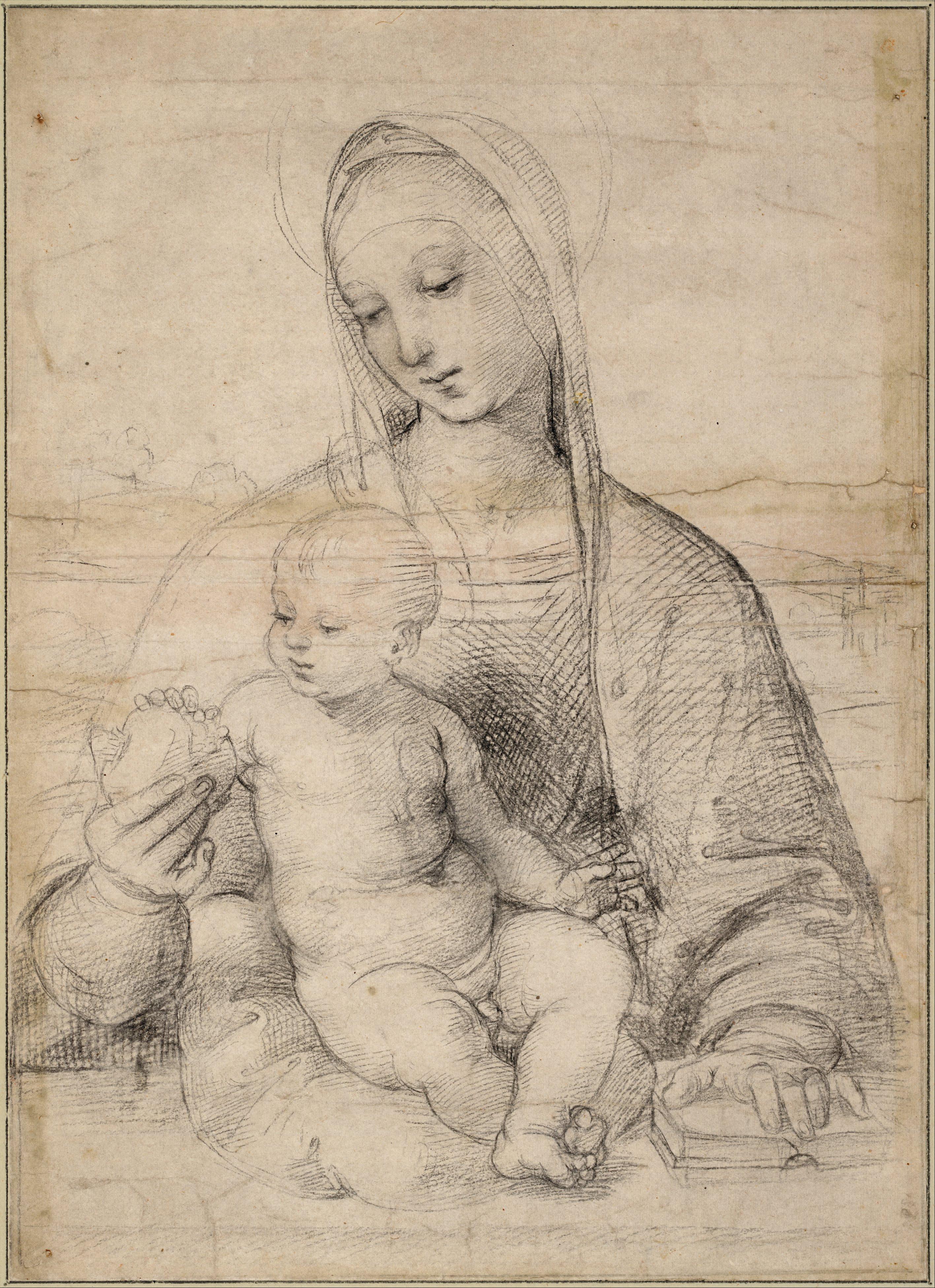 Рафаэль Санти. Мадонна с гранатом, ок. 1504 / галерея Альбертина, Вена