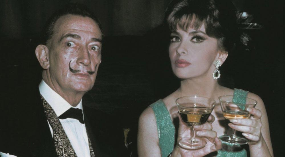Сальвадор Дали и Джина Лоллобриджида в серьгах и кольце Bulgari