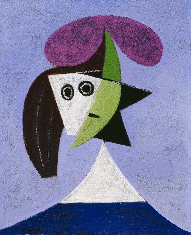 Пабло Пикассо. Женщина в шляпе (Ольга), 1935