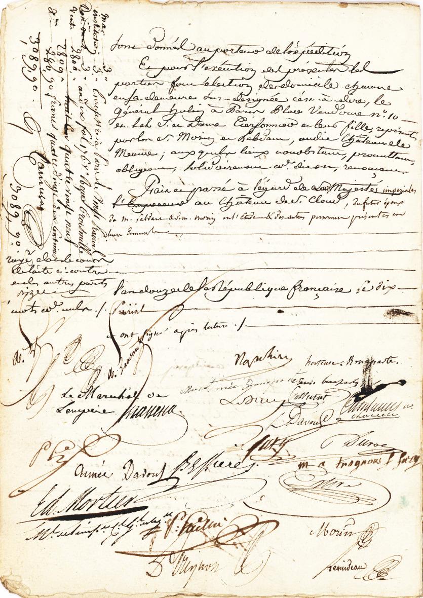 Брачный контракт Наполеона и Жозефины