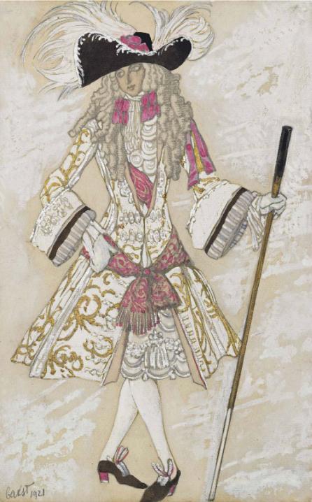 Лев Бакст, 1921 / Дизайн костюма для «Спящей красавицы»: принц Шарман / £30,000-£50,000