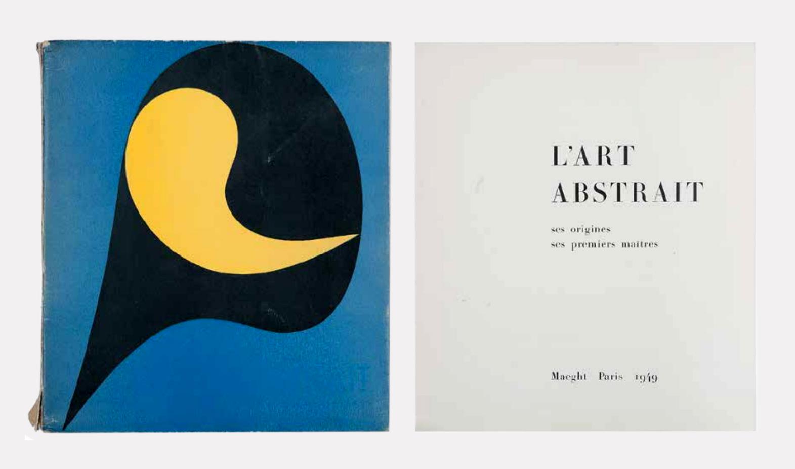 Обложка и титульный лист книги Seuphor M. «М. l'art Abstrait: Ses origines. Ses premiers maitres»