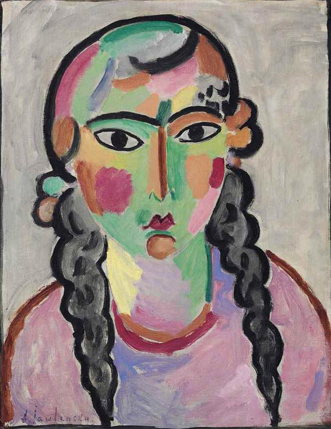 Алексей фон Явленский. Бледная девушка с серыми косами, ок. 1916
