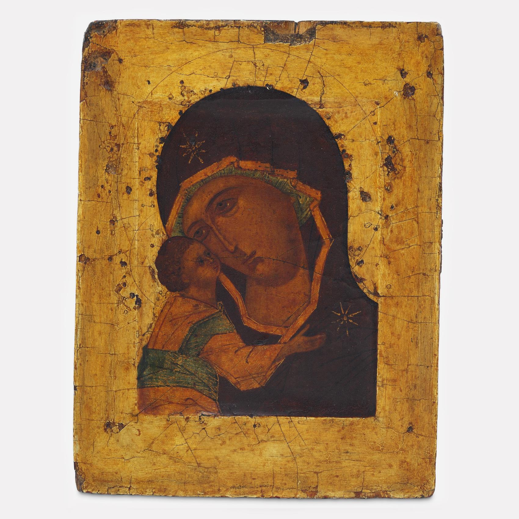Икона Владимирской Богоматери, 16 век, Новгородская школа