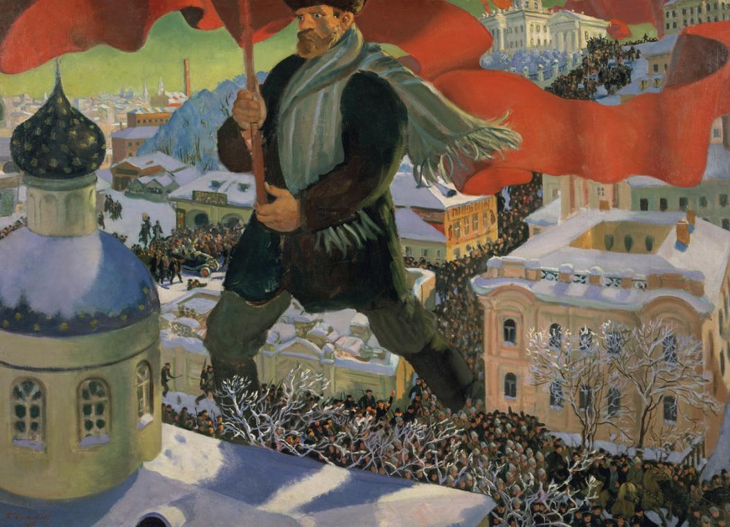 Борис Кустодиев. Большевик, 1920