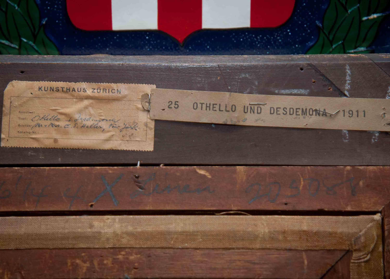 Обратная сторона работы Марка Шагала «Отелло и Дездемона» (1911)