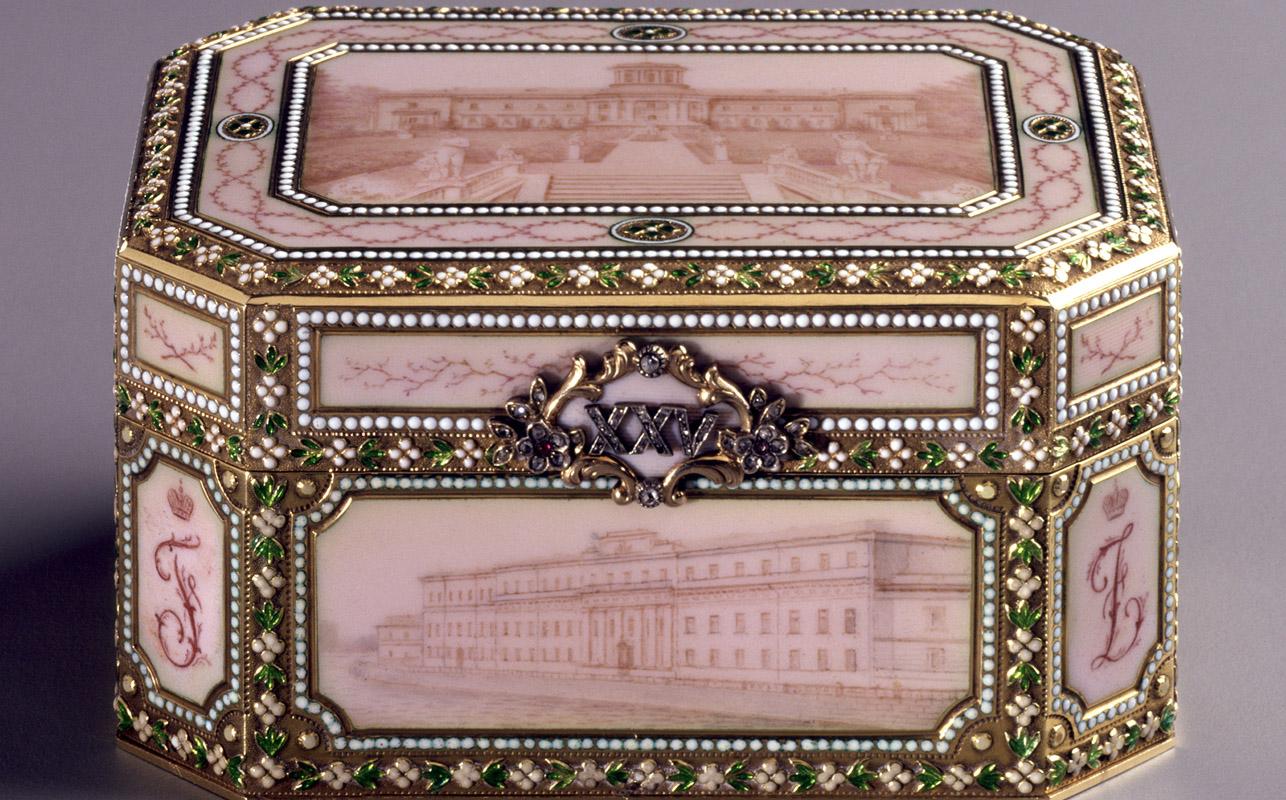 Музыкальная шкатулка Fabergé, мастер Генрик Вигстрем, 1908