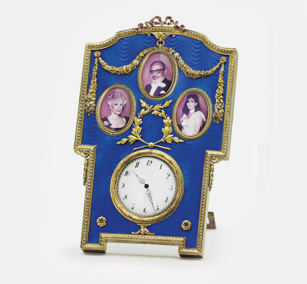 Часы-рамка. Санкт-Петербург, ок. 1890. Мастер Михаил Перхин