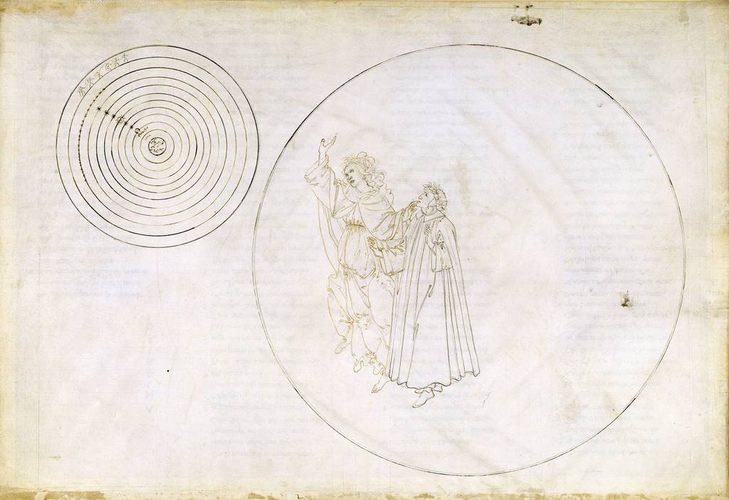 Сандро Боттичелли. Рисунок к «Божественной комедии» Данте Алигьери, ок. 1481-1495