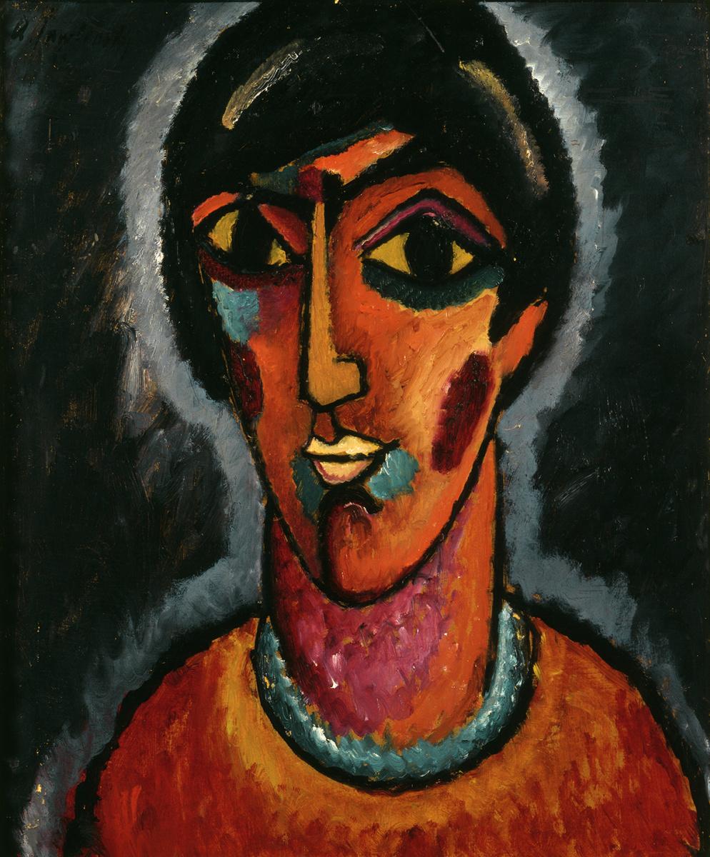 Алексей фон Явленский. Византийская женщина (Яркие губы), 1913