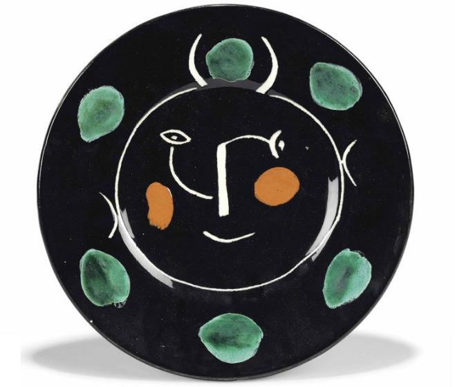 Пабло Пикассо. «Service visage noir», 1948