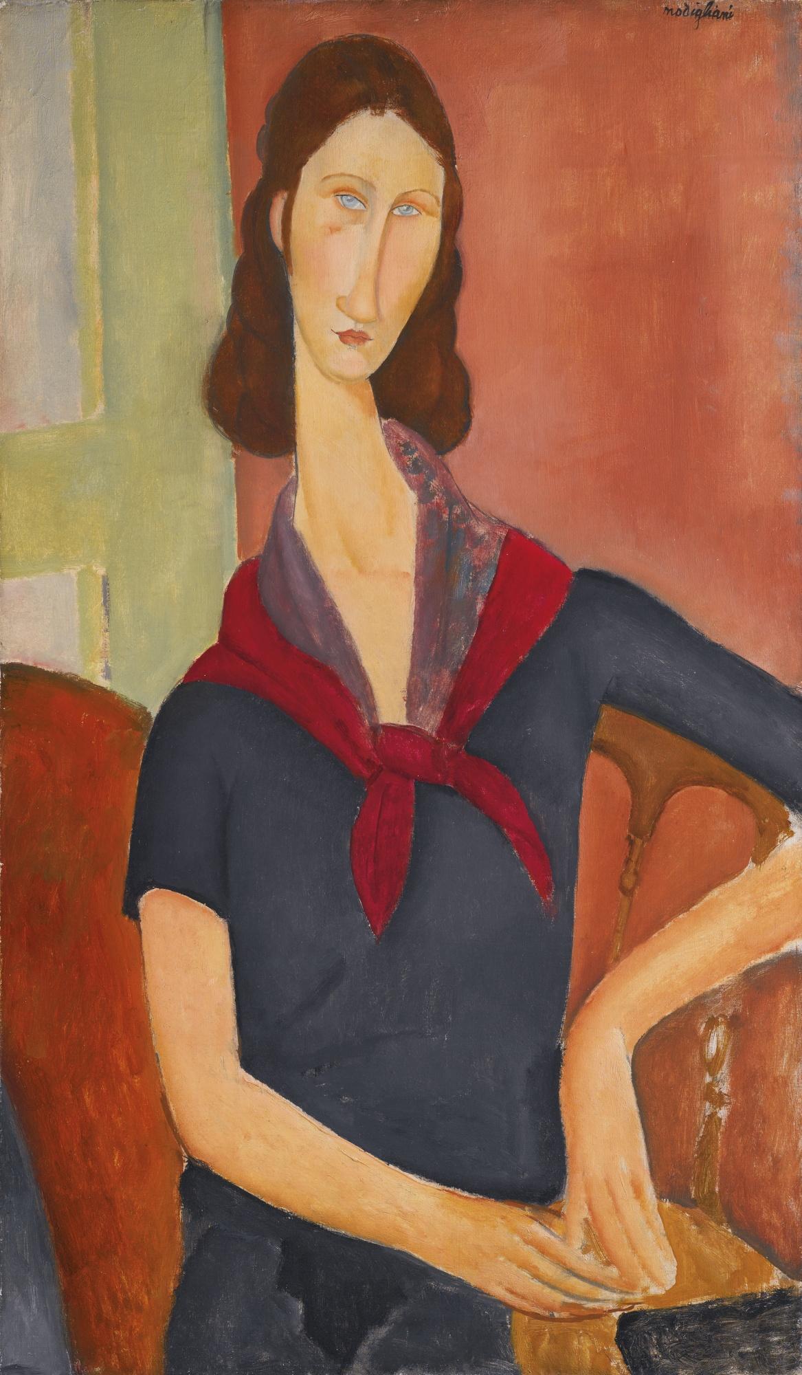 Амедео Модильяни. Жанна Эбютерн (С шарфом), 1919