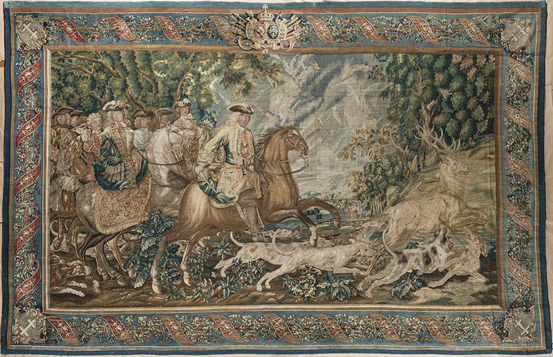 Шпалера «Охота Леопольда, герцога Лотарингского». Лотарингия, Нанси, Бон-Секурок, ок. 1725
