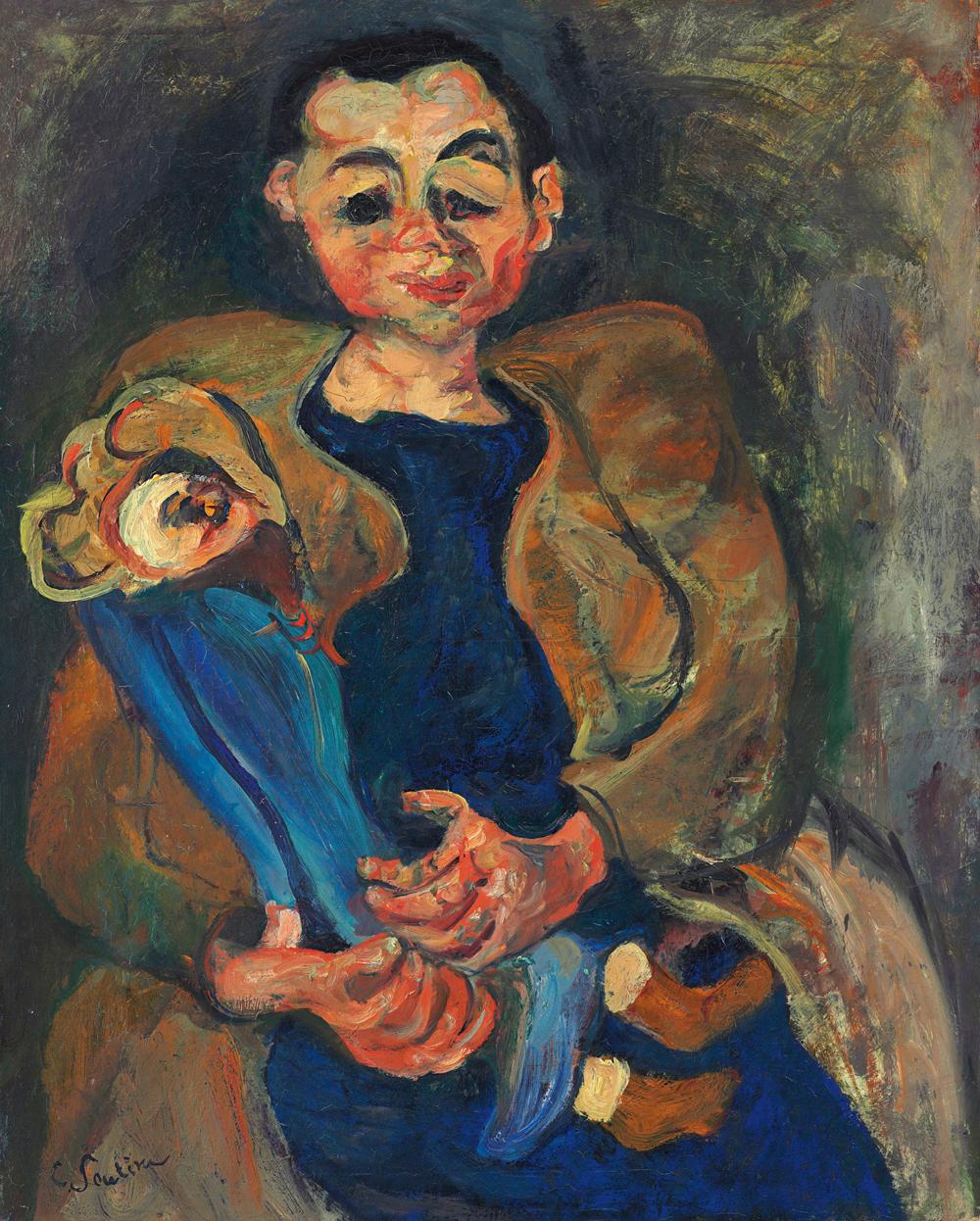 Хаим Сутин. Женщина с куклой, 1923-1924