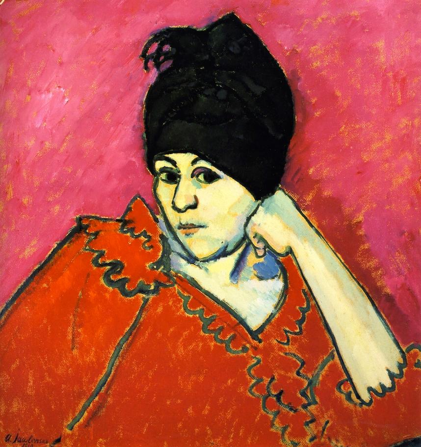 Алексей фон Явленский. Элен в темно-синем тюрбане, 1910