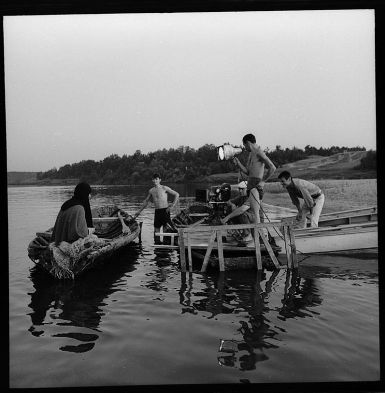 На съемках фильма «Андрей Рублев», 1964–65 / фото Георгий Васюкевич