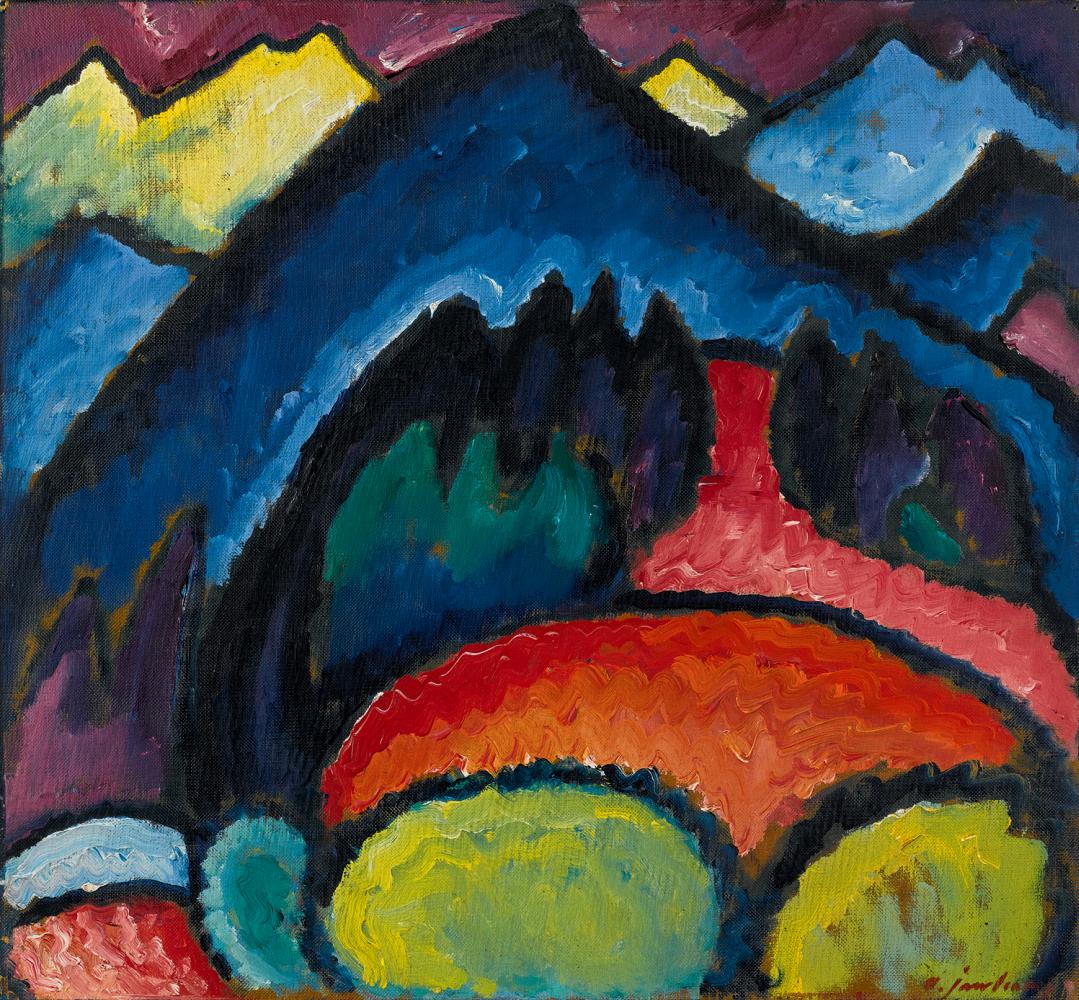 Алексей фон Явленский. Оберстдорф — Горы, 1912