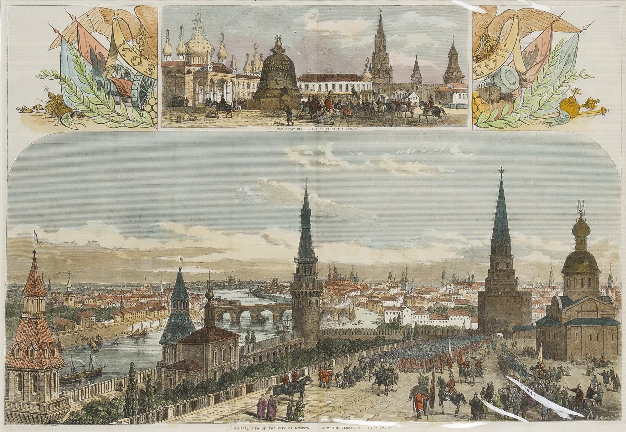 Общий вид Москвы 1856 года / фото hagelstam.fi