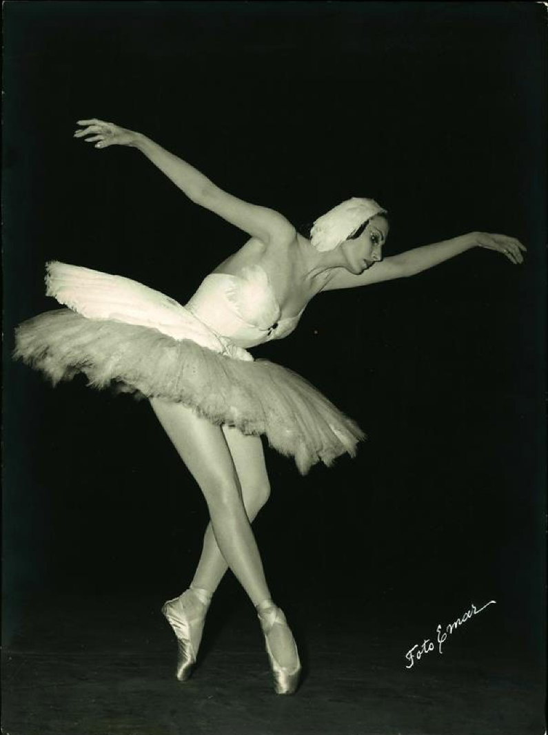 Тамара Туманова, 1950 (два снимка с балериной), фотограф Эмиль Маркович
