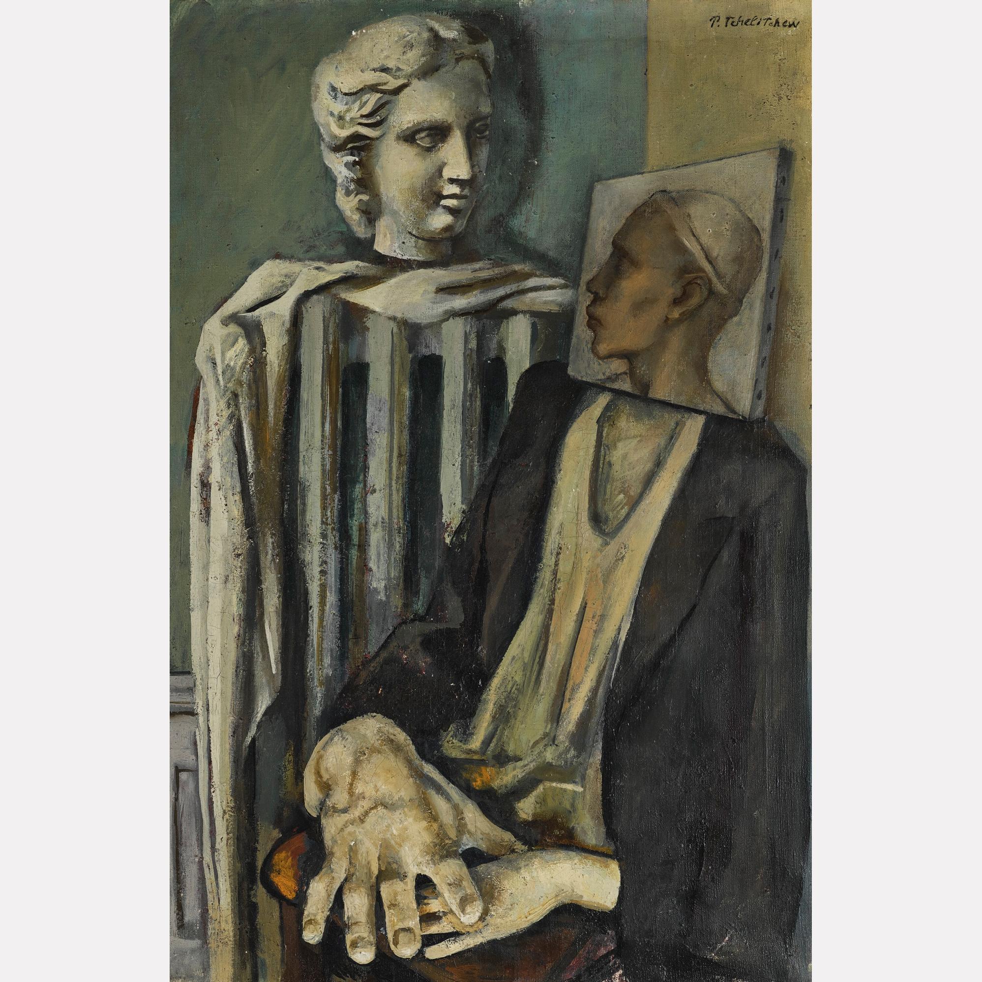 Павел Челищев. Портрет-натюрморт, нач. 1930-х