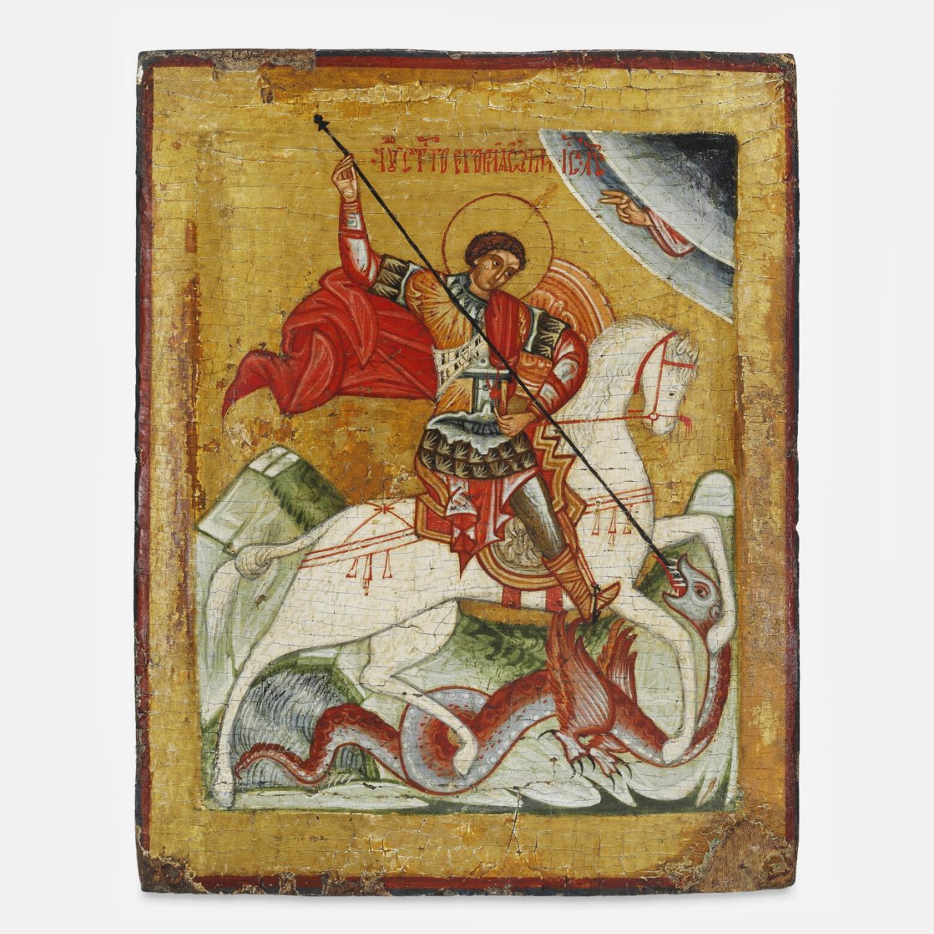Икона Святого Георгия, 16 век, Новгородская школа
