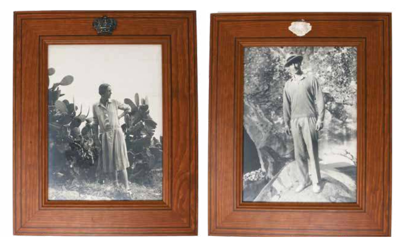 Подборка из двух фотопортретов князя Феликса Юсупова и княгини Ирины Юсуповой