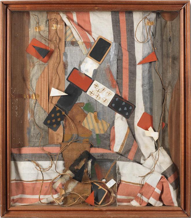 Владимир Немухин. Красно-черный натюрморт, 1988