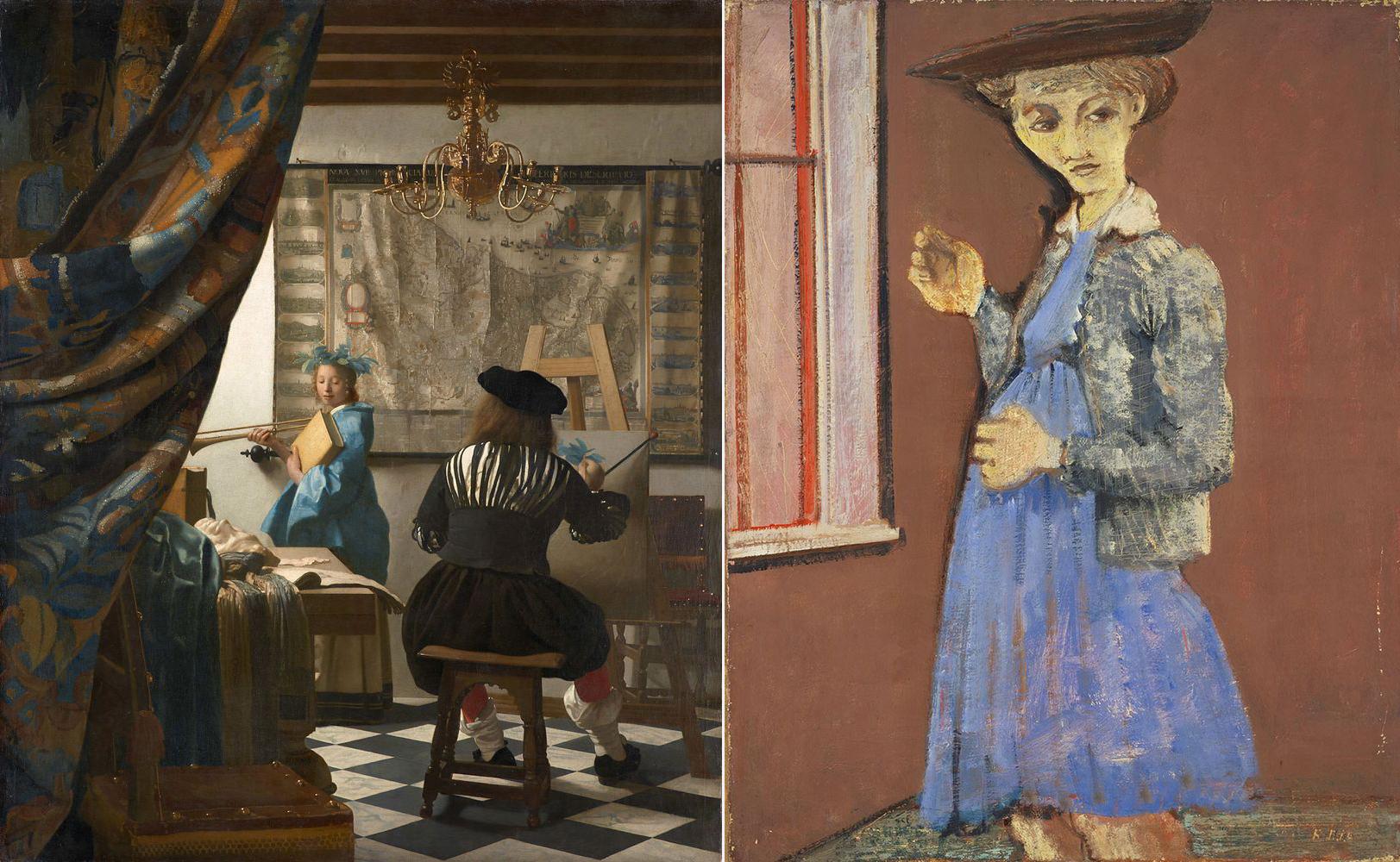 Ян Вермеер. Искусство живописи, 1666-68, Марк Ротко. Портрет Марии, 1938-1939