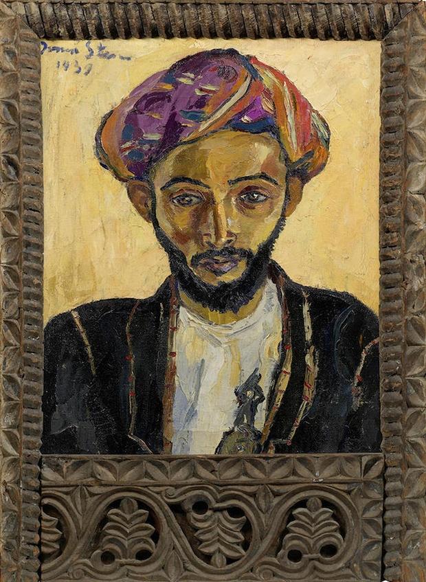 """Ирма Стерн """"Араб в черном"""", холст-масло, 1939"""