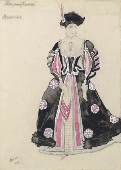 Лев Бакст, 1921 / Дизайн костюма для «Спящей красавицы»: танцовщица мазурки в розовом / £10,000–£15,000
