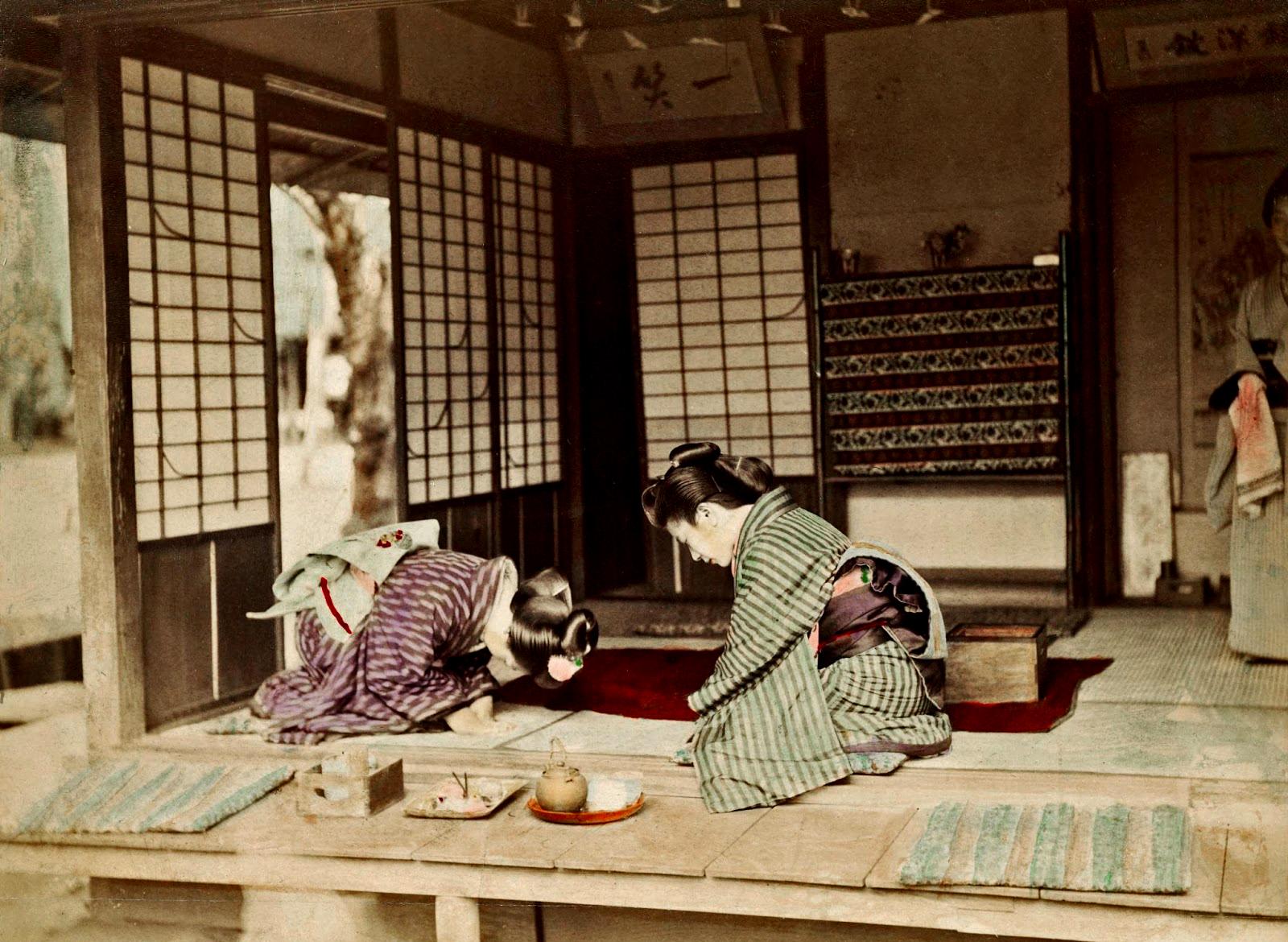 Японская чайная церемония, 1880-е