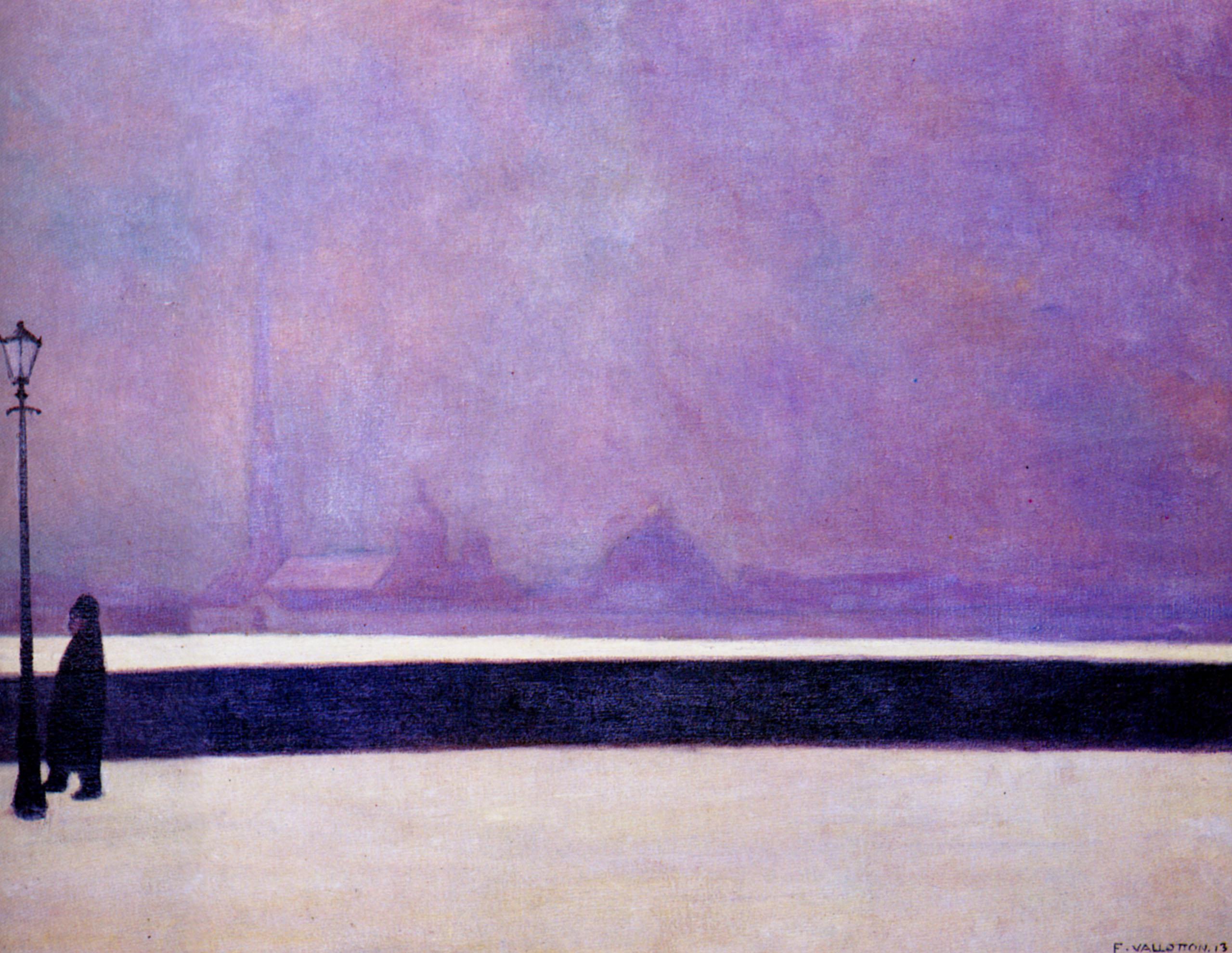 Феликс Валлоттон. Нева, легкий туман, 1913