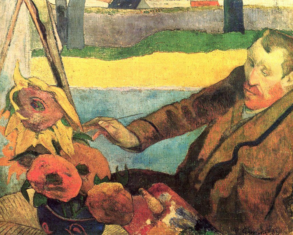 Поль Гоген. Винсент Ван Гог пишет Подсолнухи, 1888