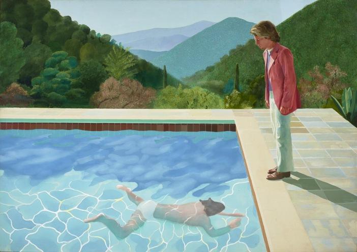 Дэвид Хокни. Портрет художника (Бассейн с двумя фигурами), 1971