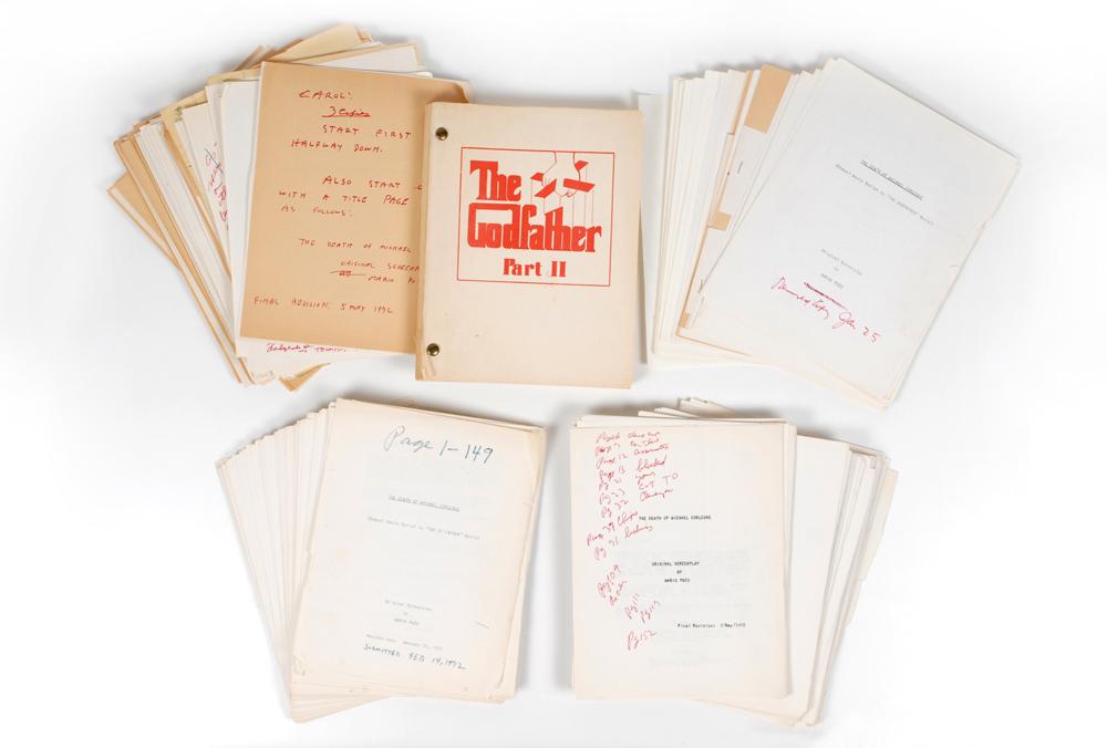 Папки из архива Марио Пьюзо